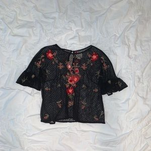 maeve floral layering top !!